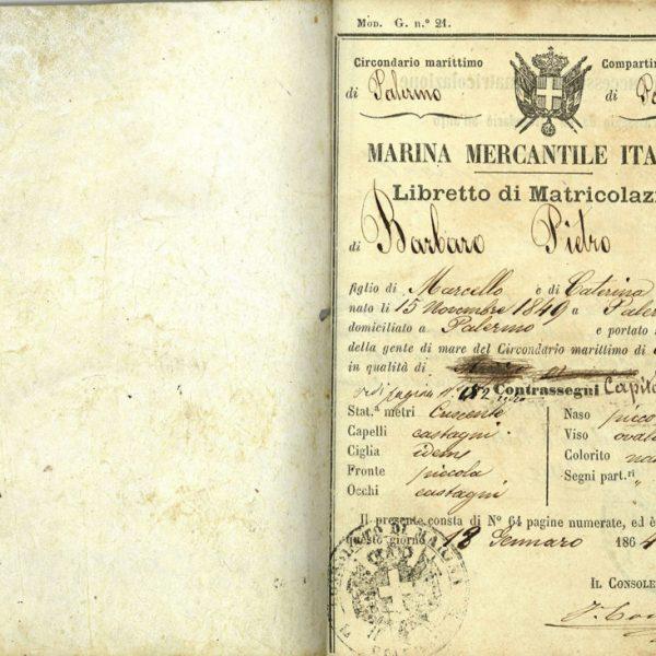 Navigation logbook of Pietro Barbaro